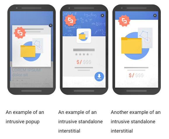 Google Penalizing Popups